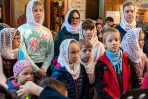 Детская Литургия в Троицком храме Железнодорожного