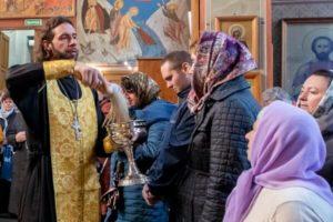 Встреча с членами общества трезвости в Троицком храме Железнодорожного