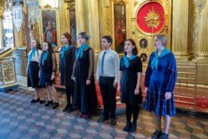 Концерт школьного хора в Троицком храме в Павлино