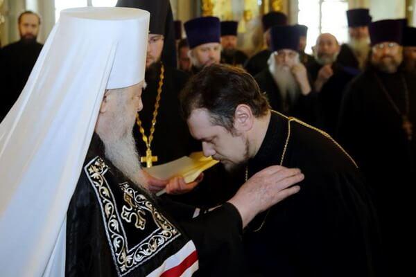 Награждение в Новодевичьем монастыре