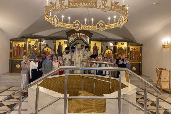 Освящение крестильного храма в Балашихе