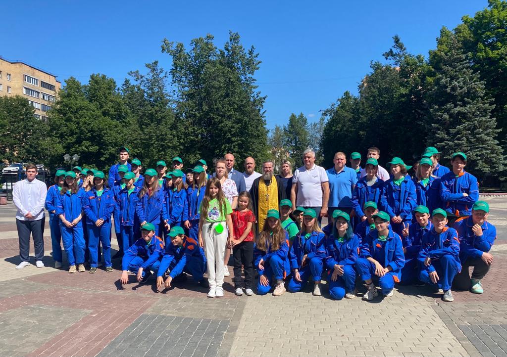 Открытие второй смены экологического лагеря в Железнодорожном