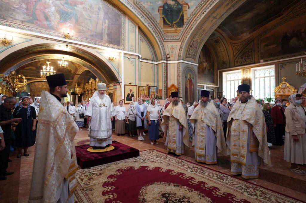 Архиерейское богослужение в Саввино